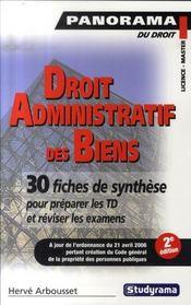 Droit administratif des biens ; premier cycle ; 30 fiches de synthèse pour préparer les td et réviser les examens(2e édition) - Intérieur - Format classique