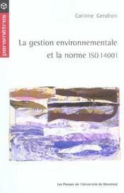 La gestion environnementale et la norme ISO 14001 - Intérieur - Format classique
