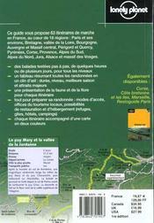 Itineraires De Marche En France ; 1e Edition - 4ème de couverture - Format classique