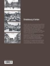 Strasbourg d'antan - 4ème de couverture - Format classique