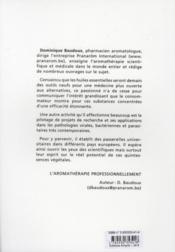 Cahiers prat. aroma. grossesse - 4ème de couverture - Format classique