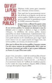 Qui veut la peau des services publics? - 4ème de couverture - Format classique