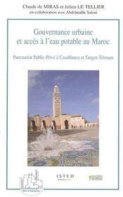 Gouvernance Urbaine Et Acces A L'Eau Potable Au Maroc - Couverture - Format classique