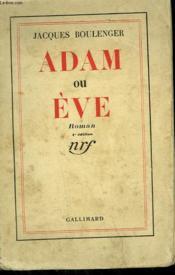 Adam Et Eve. - Couverture - Format classique
