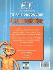 E.T. Te Fais Decouvrir Les Communications - 4ème de couverture - Format classique