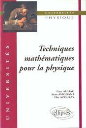 Techniques Mathematiques Pour La Physique - Intérieur - Format classique