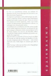 Techniques Mathematiques Pour La Physique - 4ème de couverture - Format classique