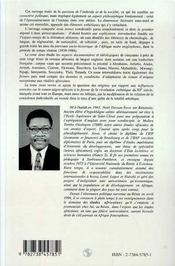 Individu Et Societe Dans Le Roman Negro-Africain D'Expression Anglaise De 1939 A 1986 T.1 - 4ème de couverture - Format classique