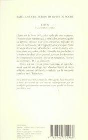 Chien ; Confession A Midi - 4ème de couverture - Format classique