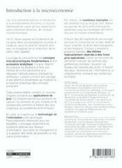 Introduction A La Microeconomie (Traduction De La 6e Edition Americaine) - 4ème de couverture - Format classique