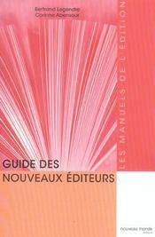 Guide des nouveaux editeurs - le manuel de l'edition - Intérieur - Format classique