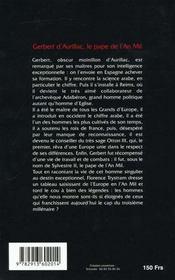 Histoire de gerber - le pape de l'an mil - 4ème de couverture - Format classique