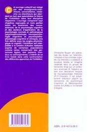 Inhibition au carrefour des neurosciences et des sciences de la cognition - 4ème de couverture - Format classique