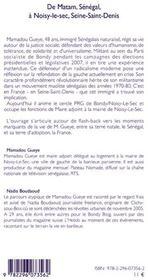 De Matam, Sénégal à Noisy-le-sec, Seine-Saint-Denis - 4ème de couverture - Format classique