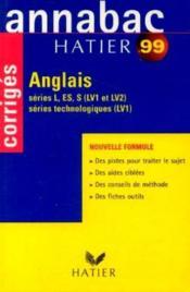 Annabac 99 Anglais - Couverture - Format classique
