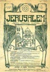 JERUSALEM, 30e ANNEE, N° 188, NOV.-DEC. 1935, REVUE MENSUELLE ILLUSTREE - Couverture - Format classique