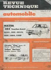 Revue Technique Automobile -Octobre 1983 - N°437 - Evolution De La Construction Citroën Visa - Talbot Horizon - Etude Technique Mazda 323 Traction Avant - Couverture - Format classique