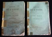 Revue de l'Anjou (2 volumes, tomes septième et huitième, 1884) - Couverture - Format classique