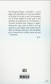 Ciné-plage - 4ème de couverture - Format classique
