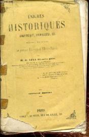 Enigmes Historiques - Graphiques - Iconologiques - Couverture - Format classique