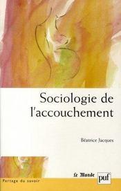 Sociologie de l'accouchement - Intérieur - Format classique