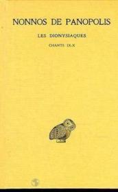 Dionysiaques t.4 ; chapitres 9-10 - Couverture - Format classique