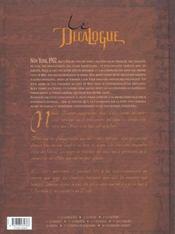 Le décalogue t.6 ; l'échange - 4ème de couverture - Format classique