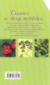 Tisanes et vieux remedes - 4ème de couverture - Format classique