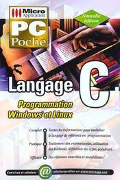 Pc Poche Langage C - Intérieur - Format classique
