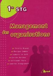 Management des organisations ; 1ère STG - Couverture - Format classique