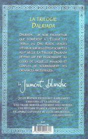 La Trilogie Dalriada ; La Jument Blanche - 4ème de couverture - Format classique