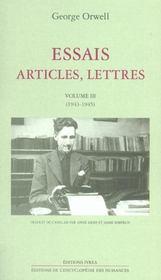 Essais, Articles, Lettres T3 - Intérieur - Format classique