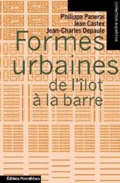 Formes urbaines de l'îlot à la barre - Couverture - Format classique