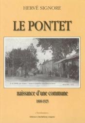 Le pontet, naissance d'une commune - Couverture - Format classique