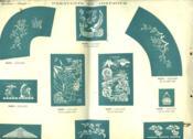 Lot De 10 Planches De Modeles De Pochoirs (Imprime Recto-Verso De Miniatures Numerotees). Frises, Decors Et Motifs Divers. - Couverture - Format classique