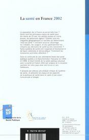 La sante publique en france - 4ème de couverture - Format classique