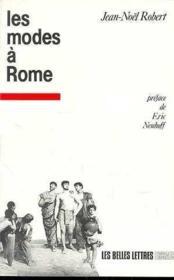 Modes a rome - Couverture - Format classique