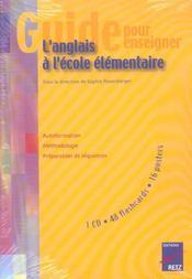 Guide pour enseigner l'anglais à l'école élémentaire - Intérieur - Format classique