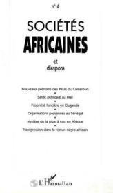Societes Africaines 6 Et Diaspora - Couverture - Format classique