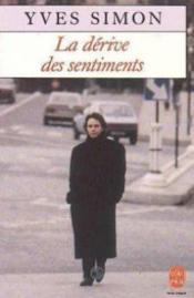 La Derive des sentiments - Prix Medicis 1989 - Couverture - Format classique