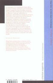 Analyse urbaine - 4ème de couverture - Format classique