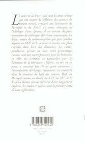 Conte et lettre dans espace lusophone. 8 - 4ème de couverture - Format classique
