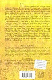 Poesie mexicaine du xx siecle - 4ème de couverture - Format classique