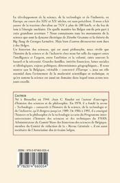 Histoire des sciences et de l'industrie en Belgique - 4ème de couverture - Format classique