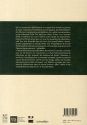 Frontières communes - 4ème de couverture - Format classique