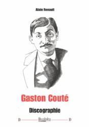 Gaston Couté ; discographie - Couverture - Format classique