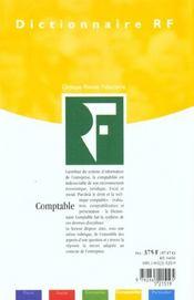 Dictionnaire Comptable 2001 - 4ème de couverture - Format classique
