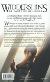Widdershins t.2 ; le pacte du mensonge - 4ème de couverture - Format classique
