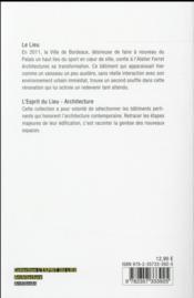 Le palais des sports de Bordeaux - 4ème de couverture - Format classique