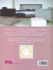 La decoration feng shui - le bien-etre dans la maison - 4ème de couverture - Format classique